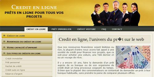 Un système de credit en ligne